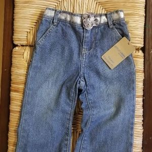 Osh Kosh Jeans w/Rose Ribbon Belt
